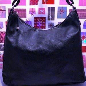 GU Kate Spade Black Leather Large Shoulder/Handbag